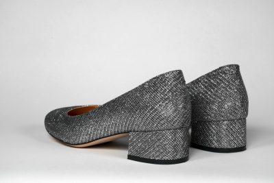 Silver glitter shoe à la Chanel